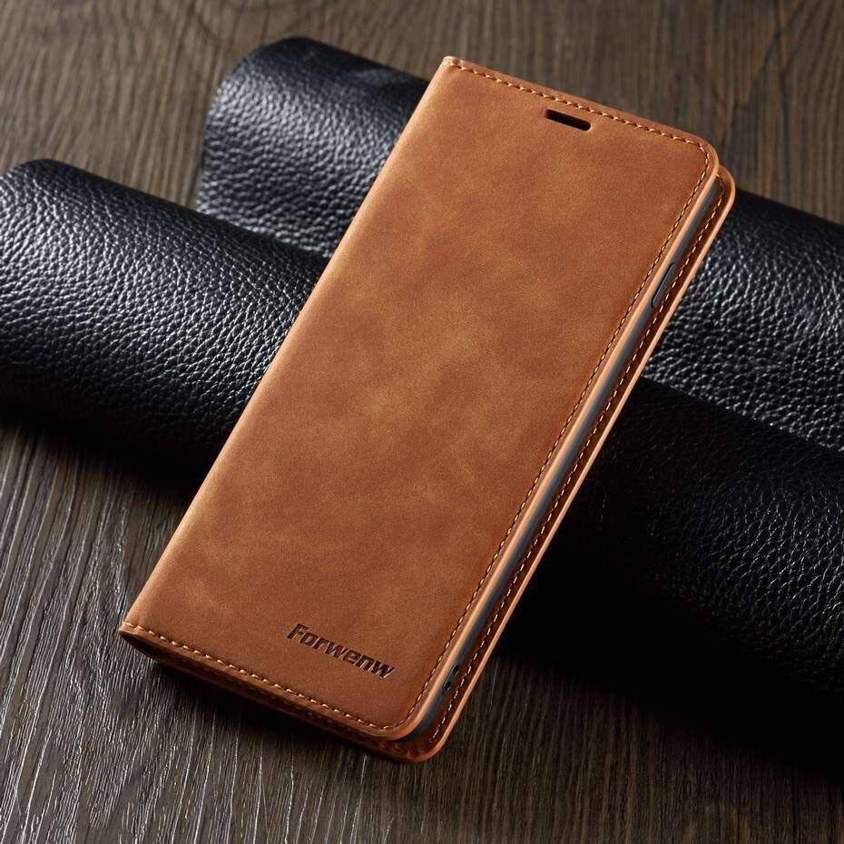 De Lujo imán Flip para Samsung Galaxy A40 A30 A20 A50 A70 S8 S9 S10 S10e A6 A7 A8 2018 funda billetera de cuero PU Plus