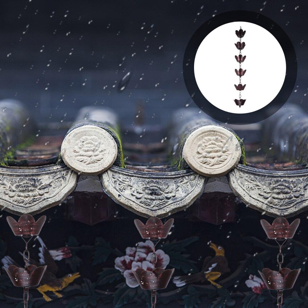 1 متر العالمي سقف الزاوية المطر سلسلة معدنية المطر الماسك حديقة الملحقات