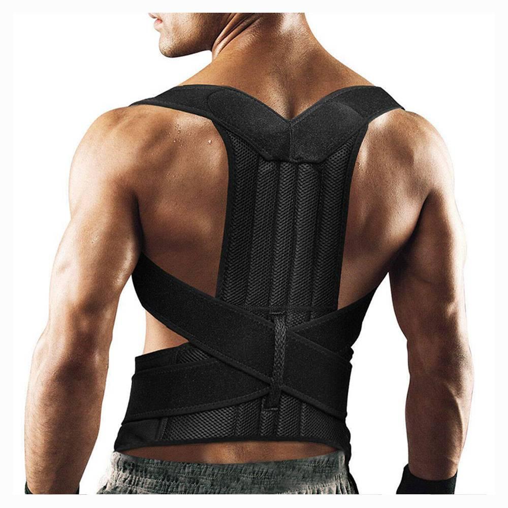 Upper Back Pain Posture Corrector for Men Body Shapers 4XL Shoulder Support Belt Adult Kids Spine Protector Lumbar Braces Women