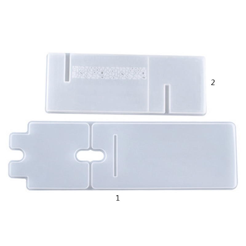 Crystal Epoxy Resin Mold Cellphone Bracket DIY Crafts Casting Tool Tablet Holder Mobile Phone Stand Silicone Mould T8DE