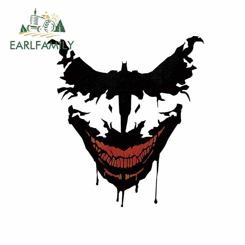 EARLFAMILY, 13cm x 12cm para Batman Vs Joker, pegatinas creativas con personalidad, carrocería para coche, pegatinas de decoración impermeable de VAN para coche