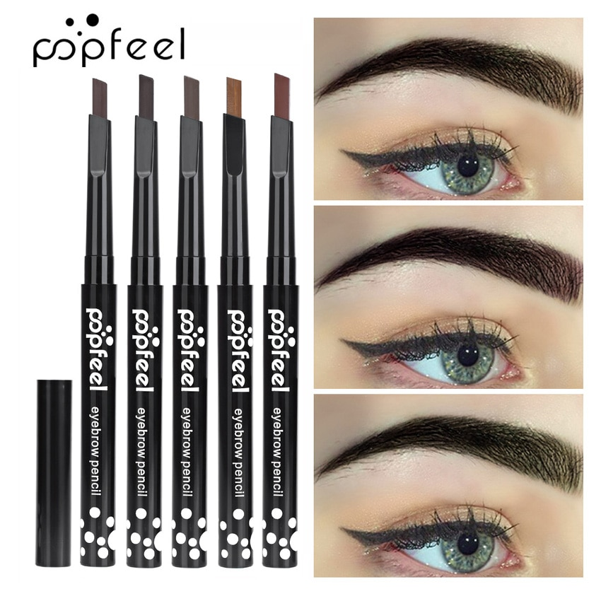 Lápiz de cejas Popfeel, maquillaje de ojos, lápiz de cejas de larga duración, lápiz potenciador de cejas a prueba de manchas, maquillaje fácil de usar, Cosméticos para tinte de cejas