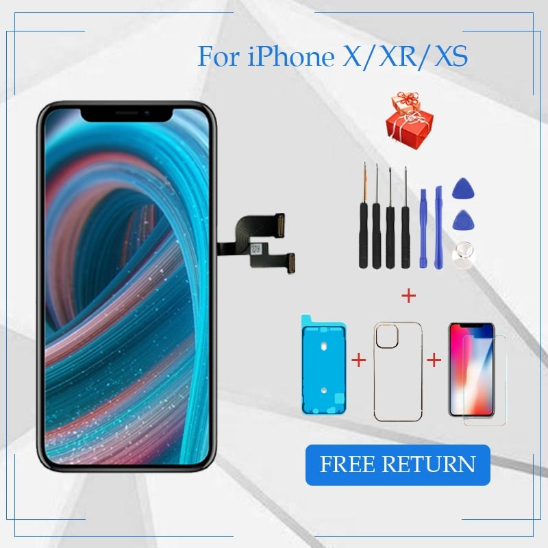 AAA+++ For iPhone X LCD XR XS Max OLED Screen Replacement For iPhone 11 Pro Max Display With 3D Touch Digitizer Assembly