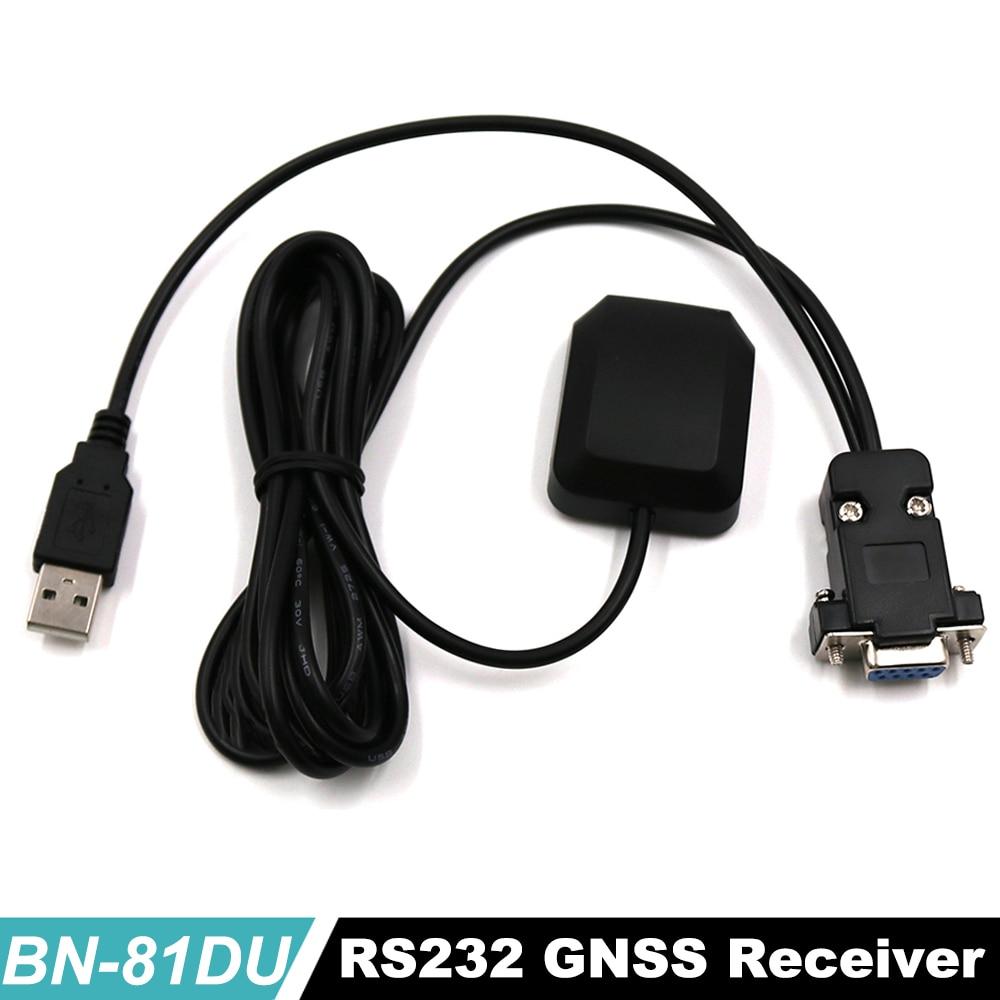 DB9 female + USB male connector RS-232 GNSS receiver Dual GPS+GLONASS receiver, 9600,NMEA,4M FLASH,BN-81DU