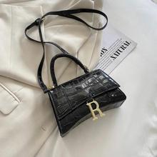 Women's Handbags Crocodile Print Metal Letter Luxury Leather Shoulder Bag Wholesale 2021 Fashion Fem