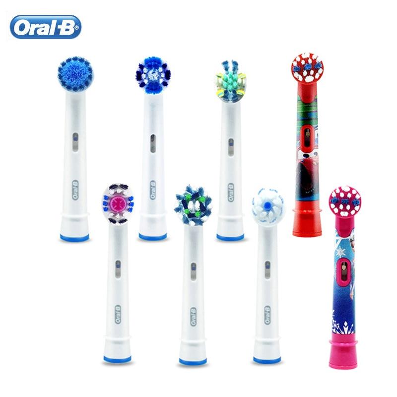 Substituição cabeças de escova de dentes em oral b escova de dentes elétrica 3d branco precisão limpa cabeças adultos criança cuidado oral 4 pcs