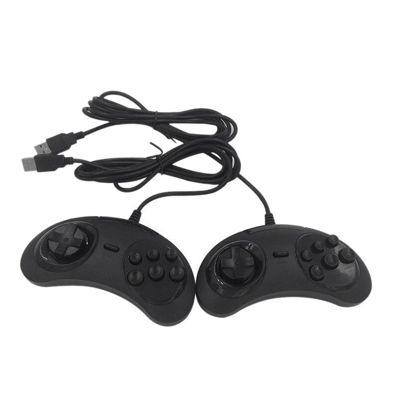 2 pzas/lote USB Gamepad del regulador del Juego 6 botones para USB...