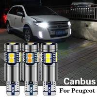 1pcs w5w t10 194 canbus led clearance light car parking bulb lamp for peugeot 206 307 407 508 307 sw 308 406 301 5008 2008 408