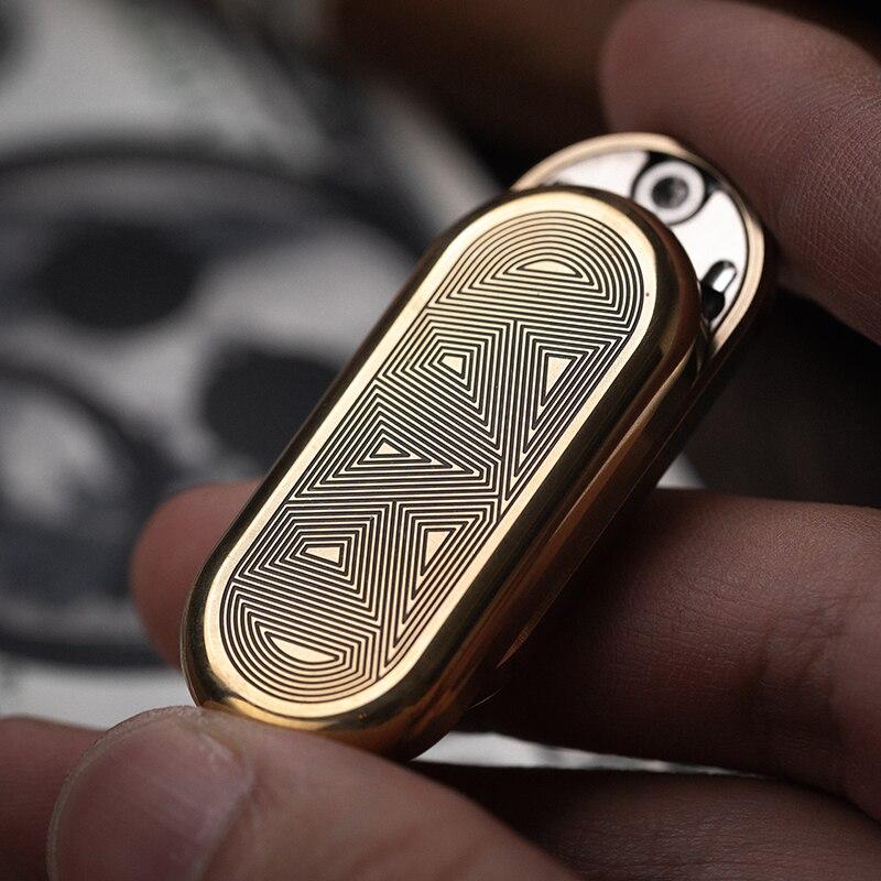 Dz Brass TOP Push Coin Fin телескапическая палкаgertip Gyro EDC Decompression Non-slip Portable Toy enlarge