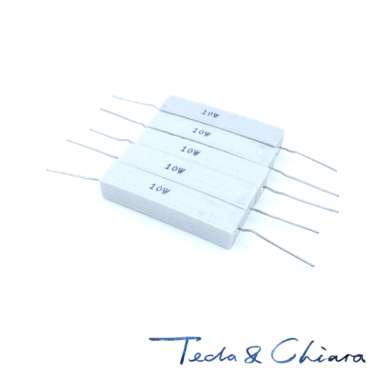 10Pcs 10W 120R 150R 180R 120ohm 150ohm 180ohm 120 150 180 5% di Cemento Ceramica di Potenza Orizzontale Resistore di Resistenza R Ohm