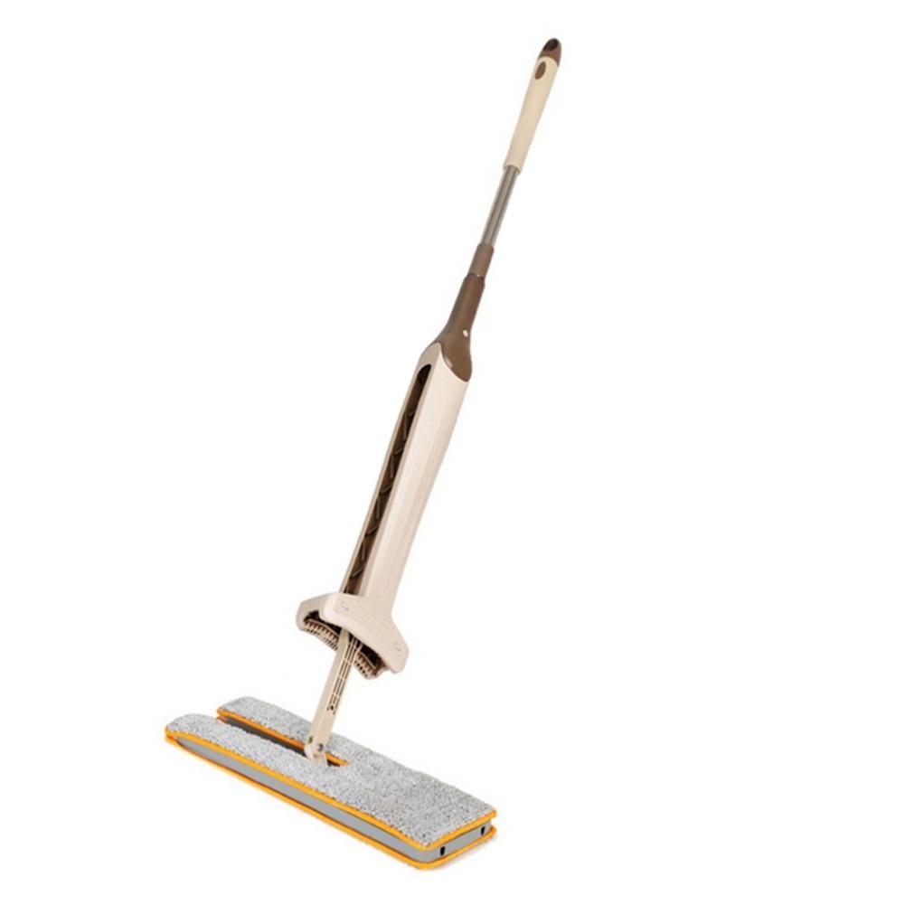 Fregonas de microfibra de doble cara para no lavar a mano fregonas planas de madera para suelo mopa de empuje de polvo herramientas de limpieza del hogar balai de menage sol caliente