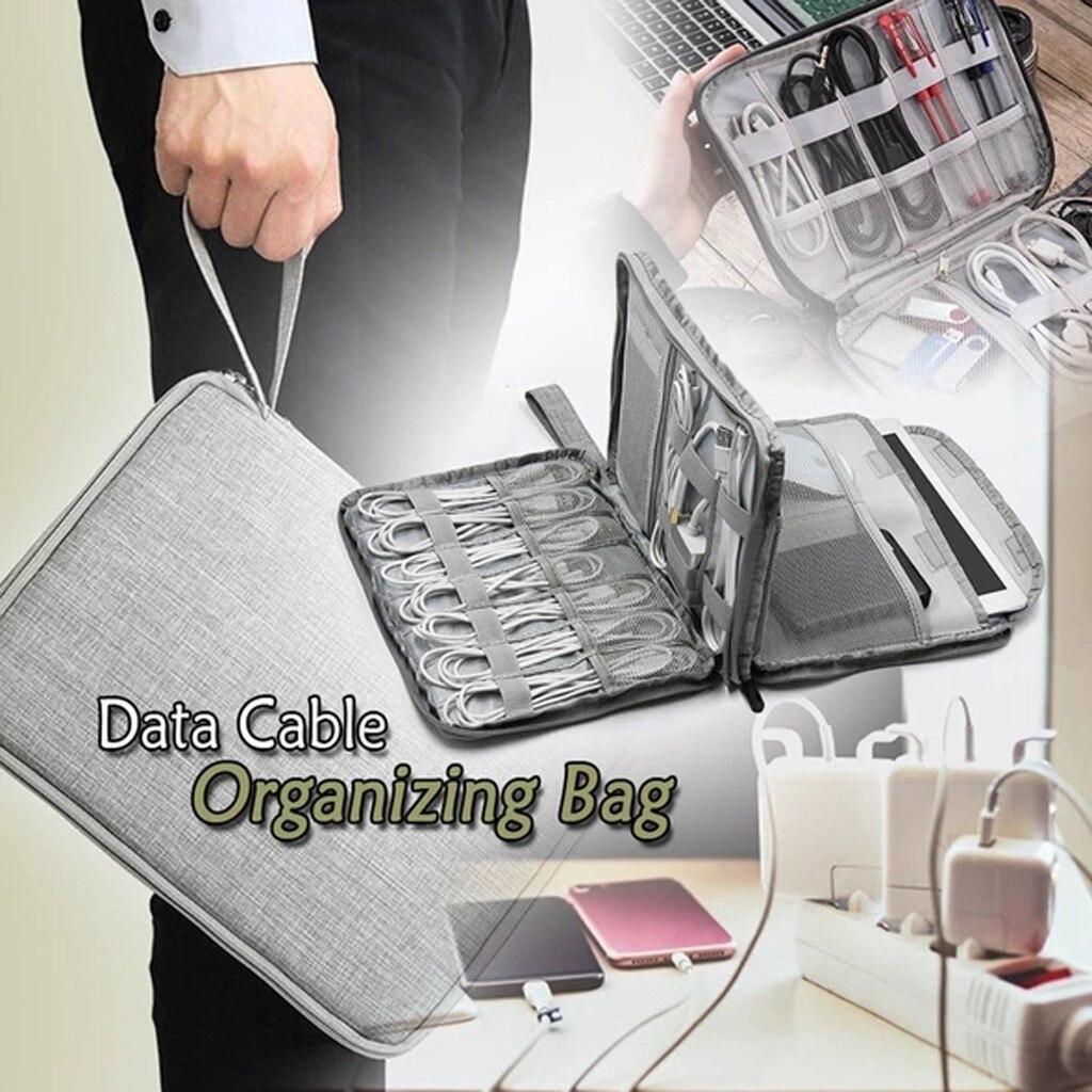 Digital Storage Bag Usb Data Cable Organizer Earphone Wire Bag Pen Power Bank Travel Kit Case Pouch Electronics Accessories Case