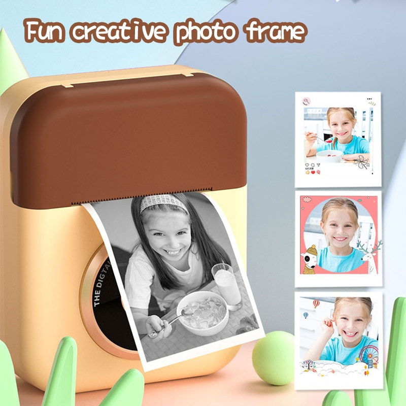 Children Camera Instant Print Camera For Kids 1080P Digital Camera With Thermal Photo Papers Child Toy Camera For Birthday Gifts enlarge