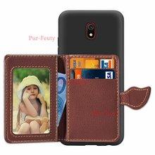 Flip Credit Pocket For Xiaomi Redmi 8 Redmi 8A 7A case leaf ID Card Holder Slim stand Case for Xiaomi mi 9 Pro shockproof cover