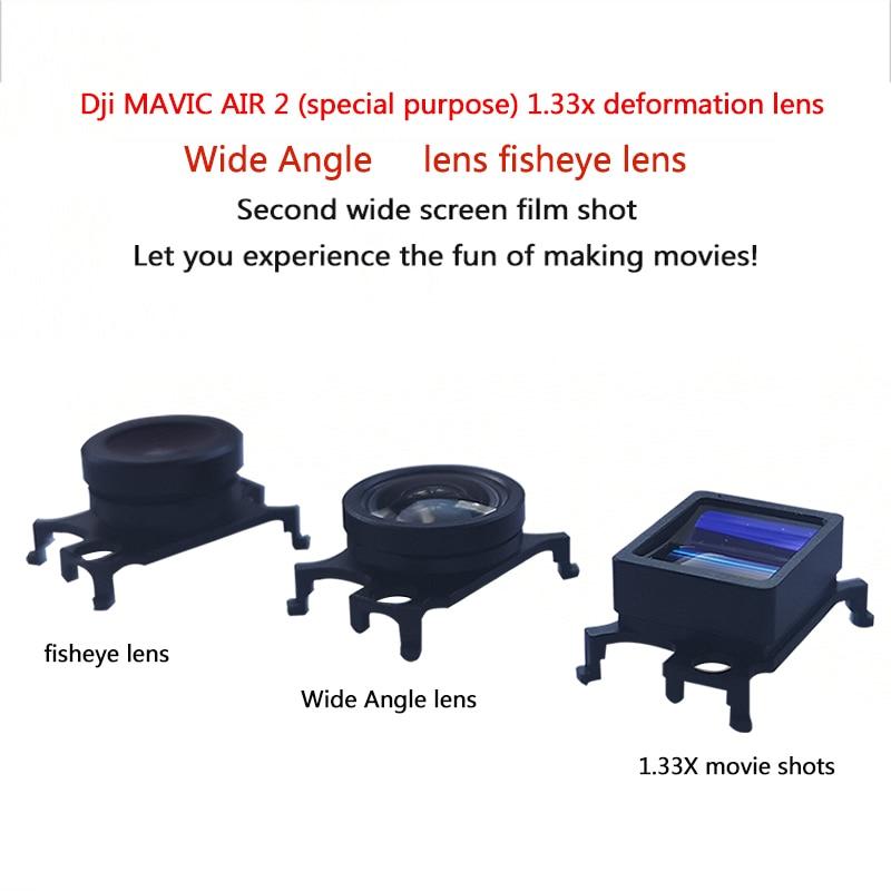 1.33X غير متبلور عدسة واسعة الزاوية عدسة عين السمكة Mavic الهواء 2 HD زاوية واسعة عدسة الكاميرا ل DJI Mavic الهواء 2 الملحقات