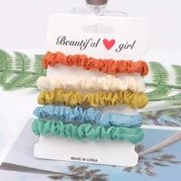 headdress fashion scrunchie simple lattice women hair scrunchies pack elastic womens sweet hair accessories for girls