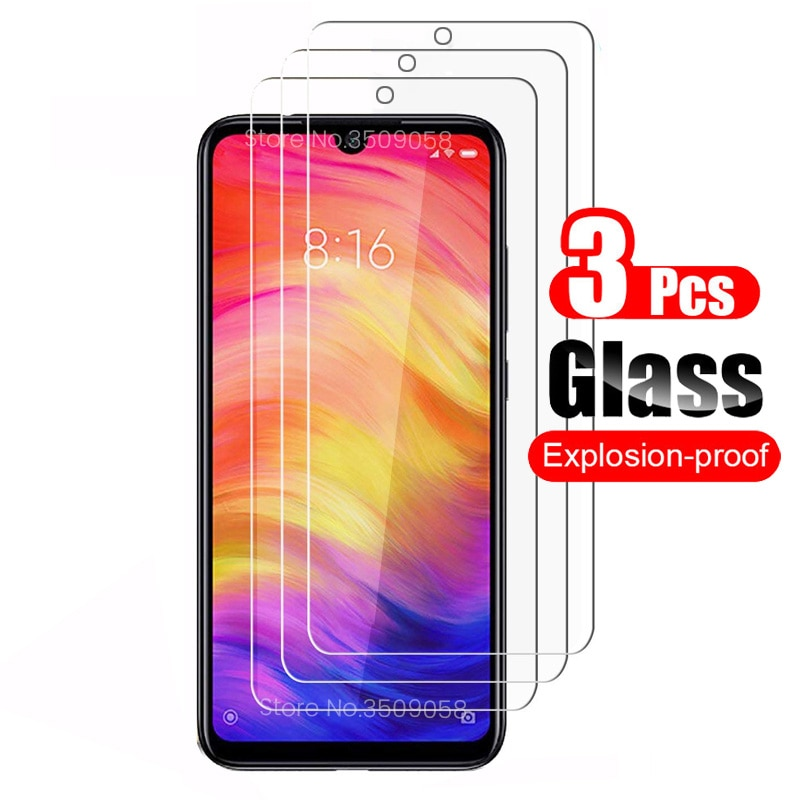 3Pcs protective glass for poco f3 m3 x3 xiaomi mi 10t glas redmi note 10 pro 9s 9t 9 8 7 8t 9c nfc 9a 8a screen protectors film