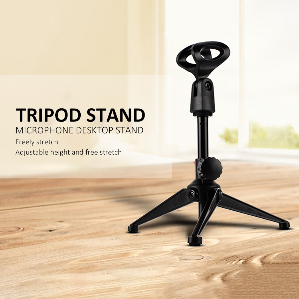 Microphone Stand Tripod Sturdy Adjustable Computer Support Bracket For Conference Recording Public Broadcasting Equipment