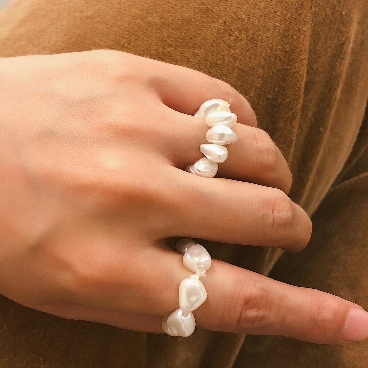 Pierscione-anillo Vintage para Mujer, sortijas estéticas, piedra semipreciosa, bisutería femenina