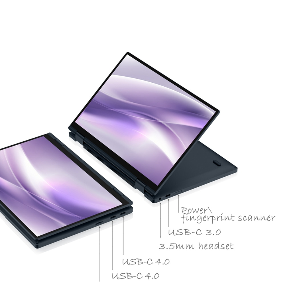 2021 One-Notebook 10.1 Inch Pocket laptop Computer OneMix 4 Netbook Intel i5-1130G7 16G RAM 1TB SSD IPS Touch Screen Windows 10