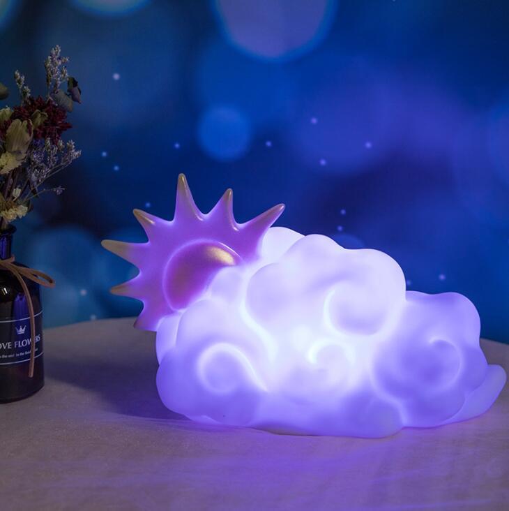 Ins جديد LED النمذجة مصباح الإبداع للأطفال لعبة من الكارتون المينا لطيف ضوء الليل