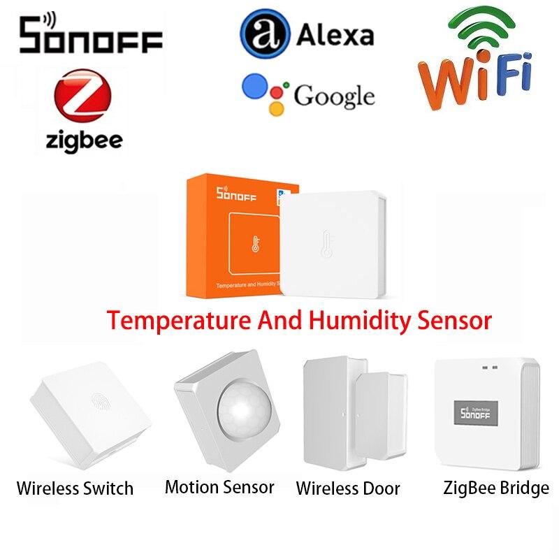 SONOFF Smart ZigBee Temperature Sensor And Humidity Sensor /Wireless Switch/Door Sensor Via Alexa Google Home SONOFF ZBBridge