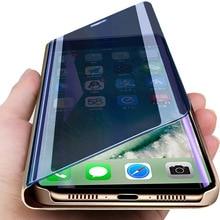 smart mirror case for samsung note 10 plus case on for galaxy s10 s9 s8 plus s10e note 10 9 8 s7 s6 edge plus coque capa fundas