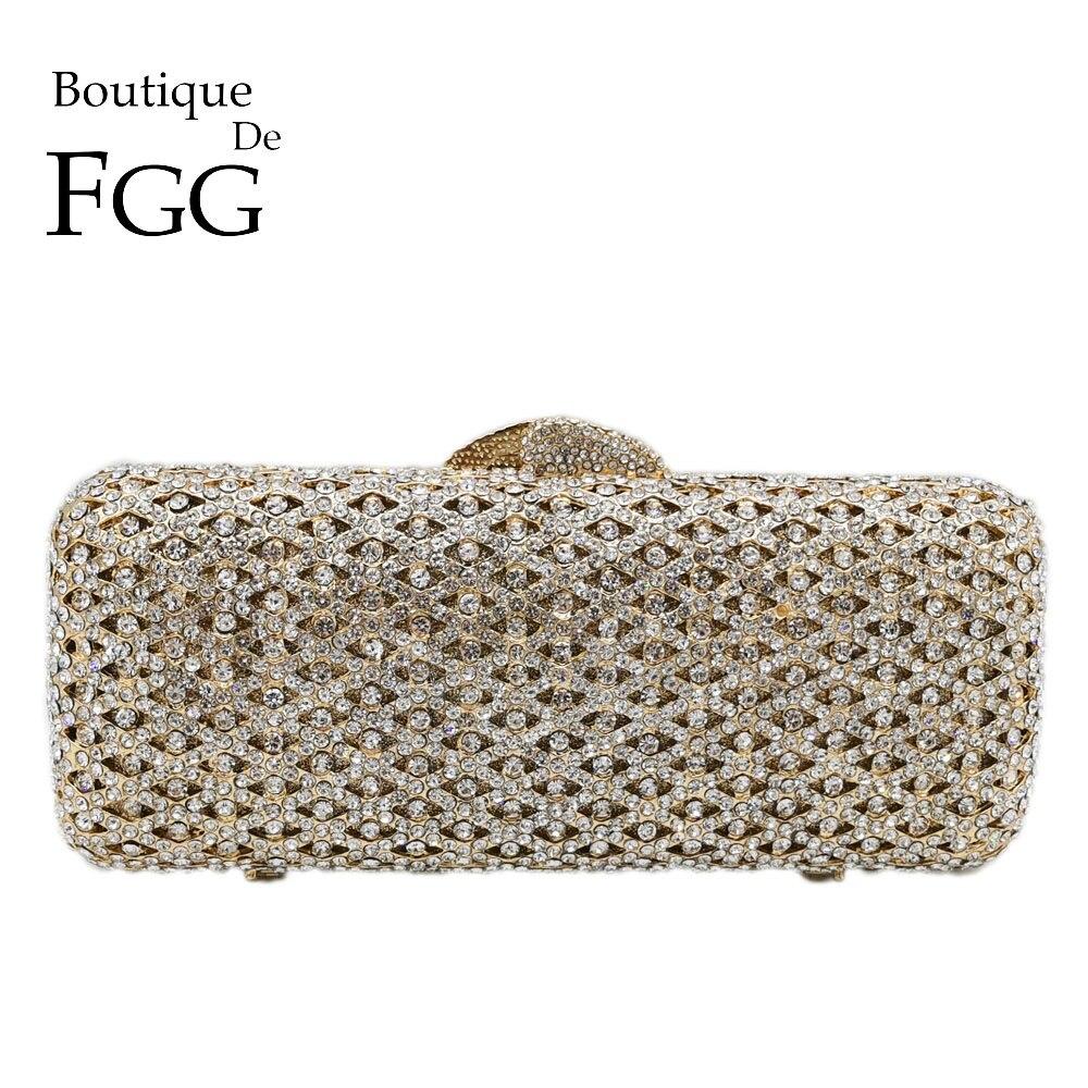 بوتيك دي FGG أنيقة المرأة الماس مربع مخلب مساء Minaudiere أكياس الرسمي عشاء حقائب والمحافظ الزفاف حقيبة الكريستال
