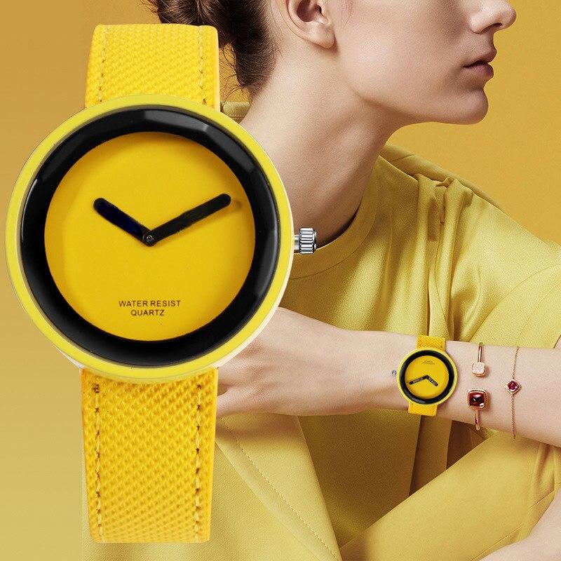 Fashion Leather Women Watches Simple Clock Quartz Wristwatch Ladies Lovers Unisex Watches