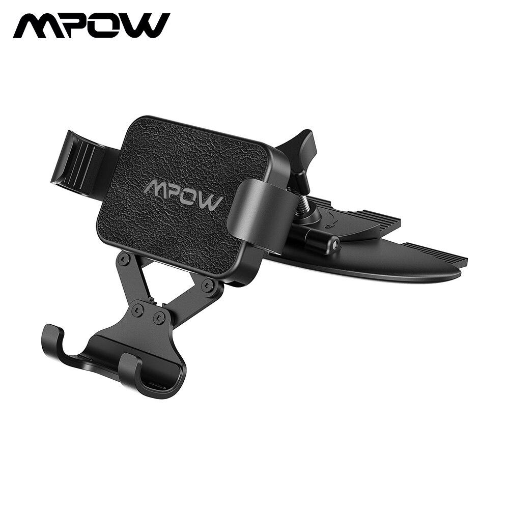 Soporte para teléfono móvil de coche de gravedad Mpow CA135 con liberación automática de sujeción para ranura para CD para iPhone Xs Max Huawei P30 Lite