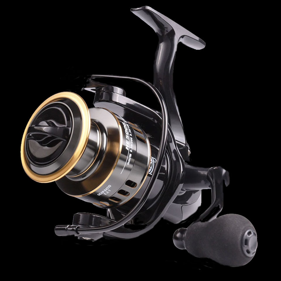 SPAZIERGANG FISCH 2020 Neue Angelrolle HE1000-7000 Max Drag 10kg Reel Fishing 5.21 hohe Geschwindigkeit Metall Spool Spinning Reel Salzwasser Reel