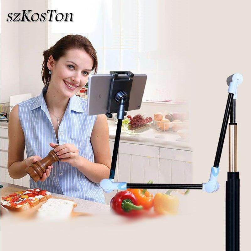 4 a 12 polegada tablet suporte para ipad iphone xiaomi pc tablet suporte do telefone de 360 graus desktop suporte braço longo montagem