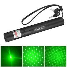 Laser haute puissance 303 pointeur Laser présentateur vert Laser lumière Laser PPT PowerPoint avec 18650 batterie et chargeur pour enseignant