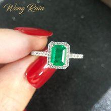Wong Regen Vintage 925 Sterling Silber Smaragd Diamanten Edelstein Hochzeit Engagement Ring Edlen Schmuck Großhandel Drop Verschiffen