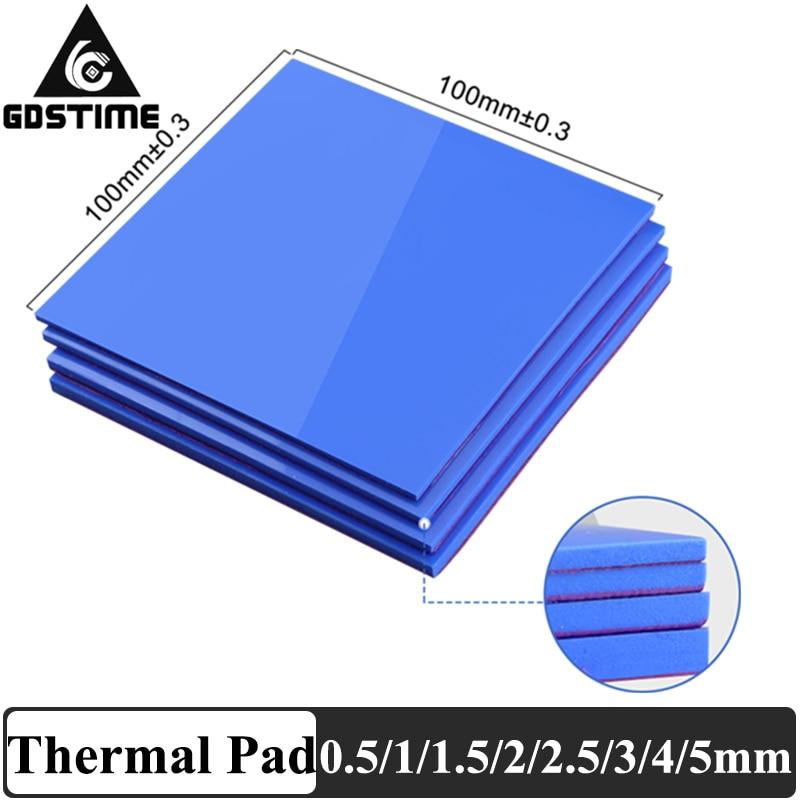 new gpu cpu heatsink cooling conductive silicone pad ic heat dissipation 100mm 100mm 1mm thermal pad high quality 3 Pcs 100mm*100mm 0.5mm 1mm 1.5mm Combination Thermal  Conductive Silicone Pads Heatsink Cooling Pad For Laptop IC GPU VGA Card