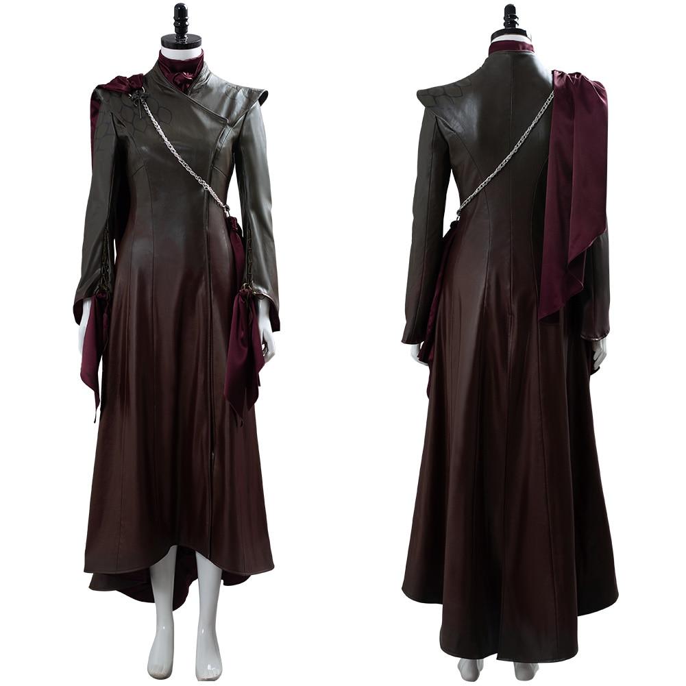 Jogo dos tronos temporada 8 cosplay daenerys targaryen traje adulto vestidos de couro roupa halloween carnaval traje para mulher