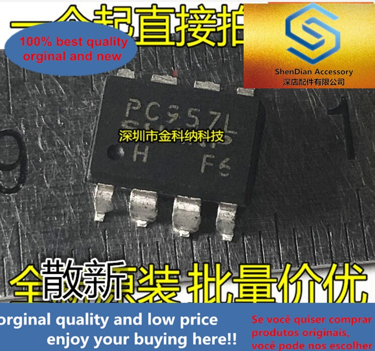 10 pces somente orginal novo pc957l sop-8 remendo pc957 optoacoplador isolador
