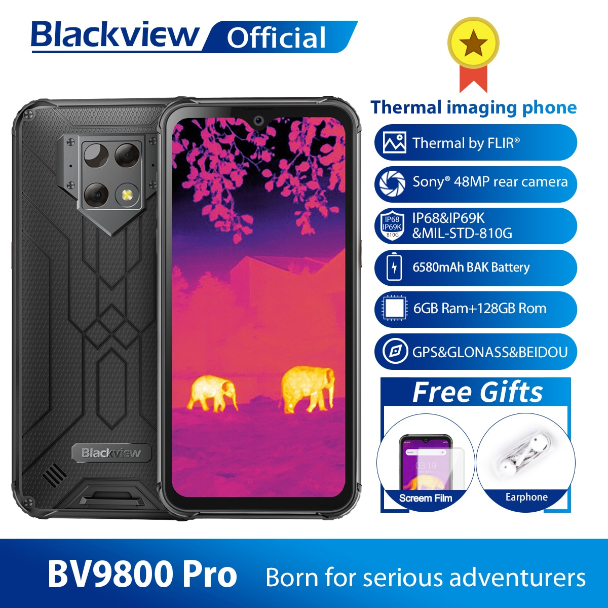 Смартфон Blackview BV9800 Pro 6+128ГБ