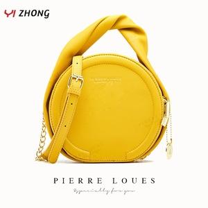 YIZHONG Circular Solid Leather Handbags Women Bags Luxury Designer Large Capacity Satchels Female Crossbody Bags Clutch Purses