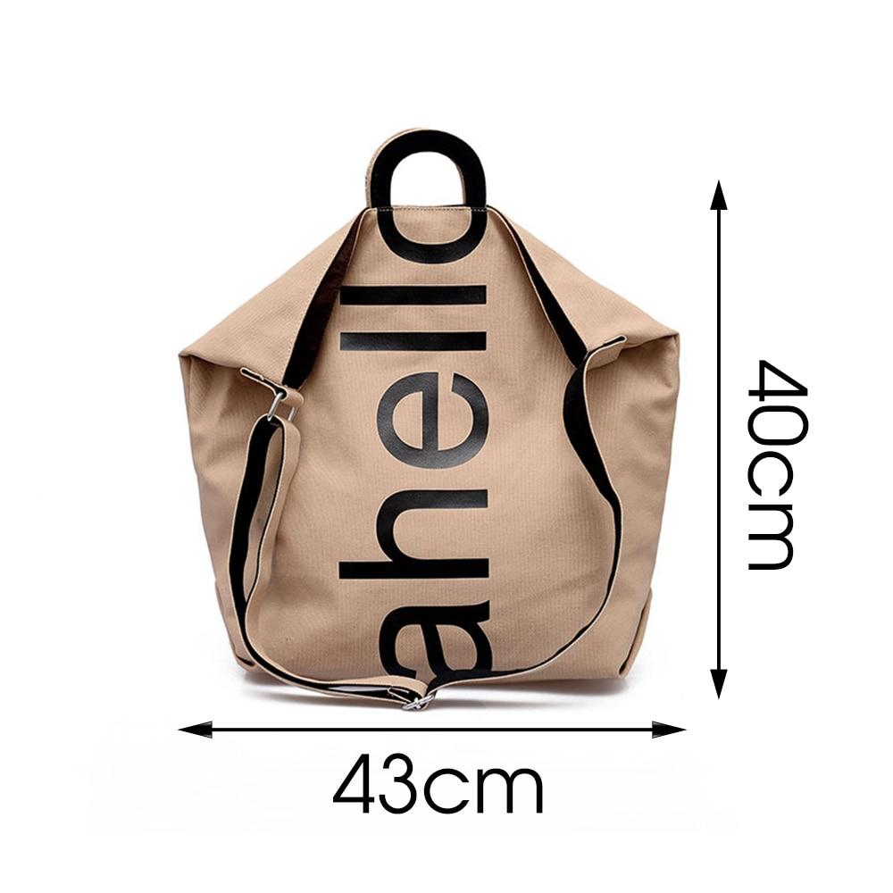 Large Capacity Cavans Cloth Crossbody Bags For Women 2021 Trendy Letter Design Lady Shoulder Bag Casual Handbags Female Totes