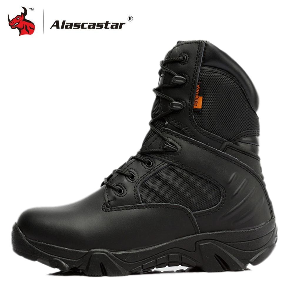 Motorcycle Boots High Ankle Racing Moto Boots Men Military Boots Quality Special Force Tactical Desert Combat Army Work Boots jzb high quality men military boots special force tactical desert combat ankle botas army work safety shoes leather snow boots