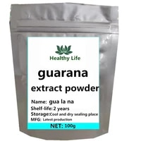 natural guarana extract powder caffeine free shipping