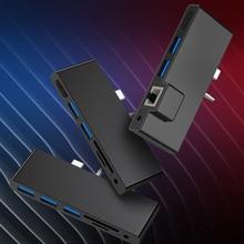 Rocketek usb 3.0 HUB card reader 4K HDMI 1000Mbps Gigabit Ethernet adapter SD/TF micro SD 3.5MM audio for Microsoft Surface GO