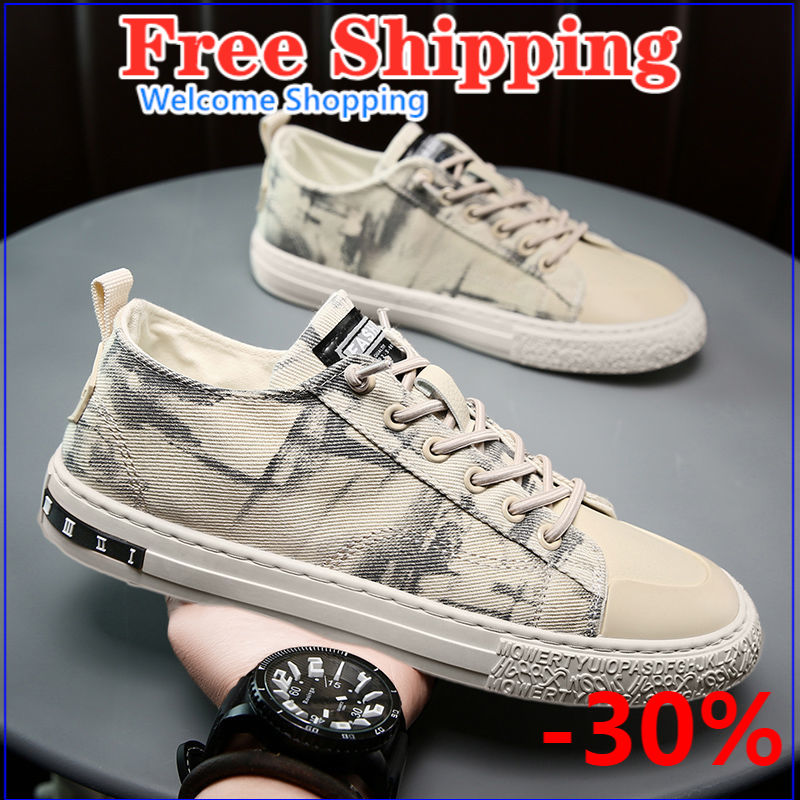 2021 new spring and summer men's shoes Korean fashion versatile casual breathable canvas board shoes small white shoes man