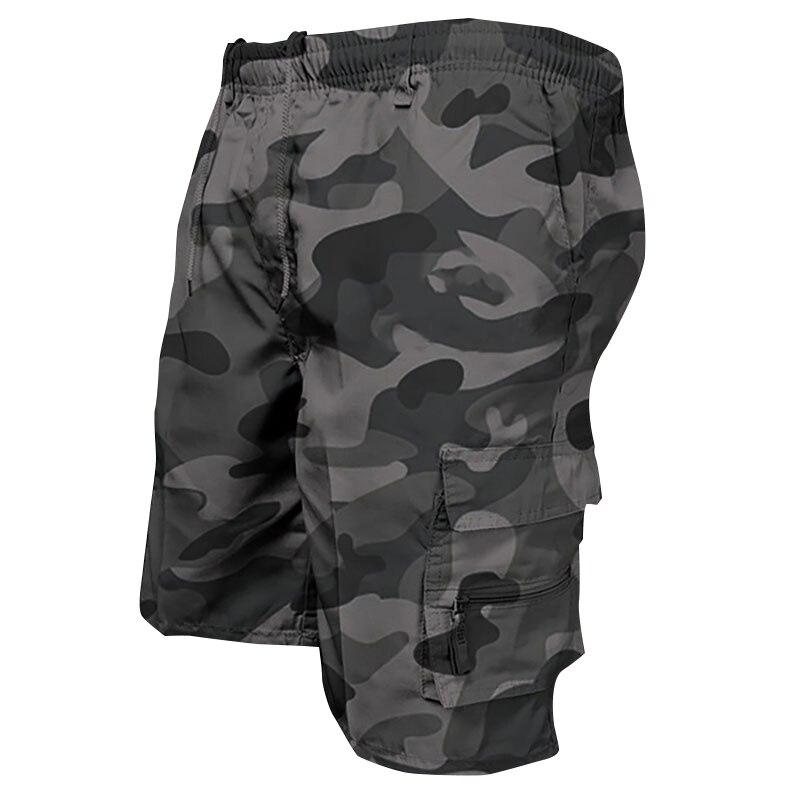 Модные мужские повседневные шорты, крутые камуфляжные новые летние брюки-карго, свободные спортивные шорты-карго, мужские шорты