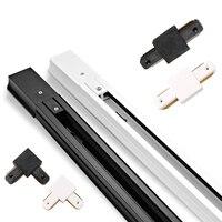 Черный/белый 0,5 м 1 м Светодиодные направляющие 220V Алюминий светодиодный Трековый светильник рельсы прямой/L соединители форм для железнодо...