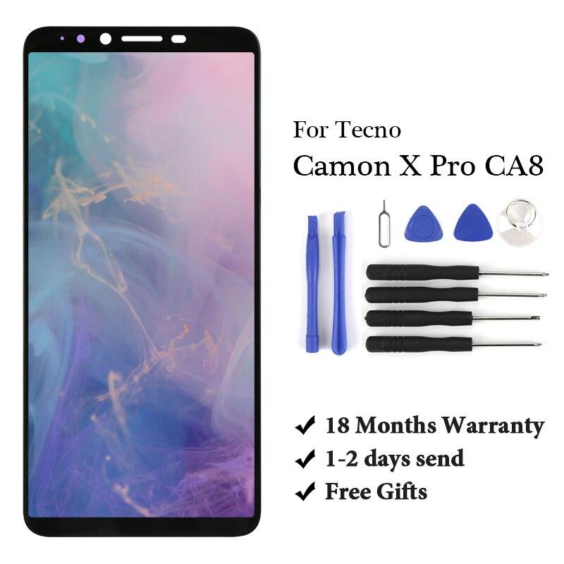 10 Uds a estrenar para Tecno Camon X Pro CA8 Lcd digitalizador montaje de alta calidad reemplazo para Tecno Camon X Pro CA8 pantalla