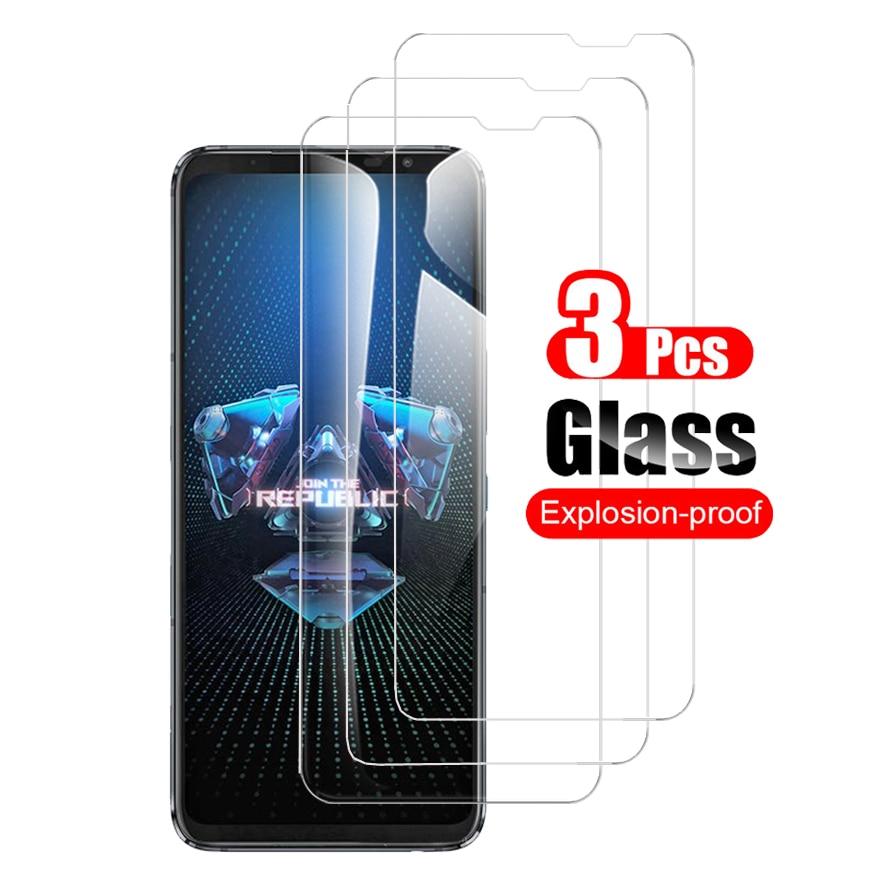 3 uds vidrio templado para Asus ROG teléfono 5 Rog5 Pro pantalla...