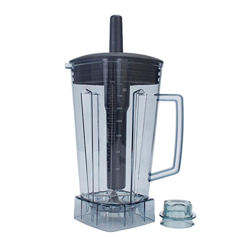 Máquina de batidos, máquina comercial de leche de soja, máquina mezcladora, accesorios para máquina de cocina, portavasos, grupo de tazas, barril de hoja 2L