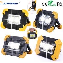 100W Led 토치 휴대용 스포트 라이트 손전등 led 작업 빛 전원 2*18650 또는 3 * AA 배터리 낚시 및 캠핑에 대 한 USB